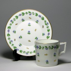 Derby Porcelain Coffee Can & Saucer c1885