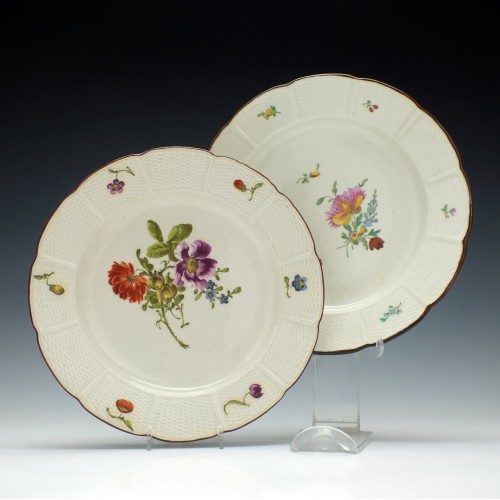 Pair of 18th Century Ludwigsberg Plates c1780