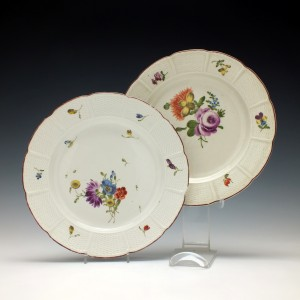Pair of 18th Century Ludwigsberg Plates c1780