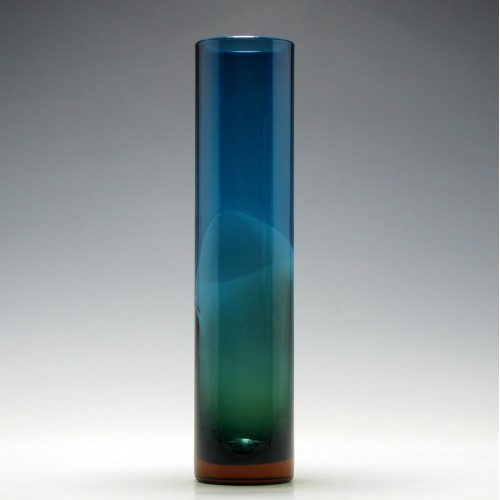 Swedish Pukeberg Glass Vase c1965