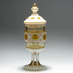 Bohemian Lidded Glass Goblet c1900