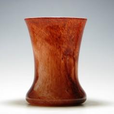 Graystan Malted Brown Over White Vase c1930