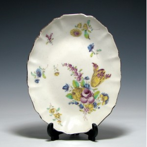 Bow Porcelain Oval Dish c1760
