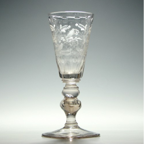 Cut and Engraved Bohemian Wine Goblet c1735