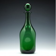 Large Dimpled Empoli Verde Decanter c1965