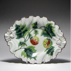 Chelsea Botanical Porcelain Dish c1755
