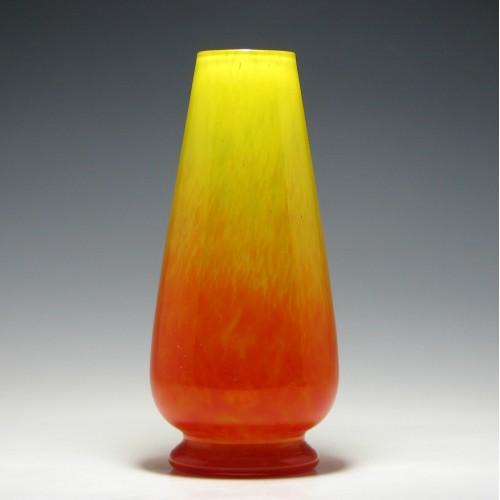 Charles Schneider Art Glass Vase c1950