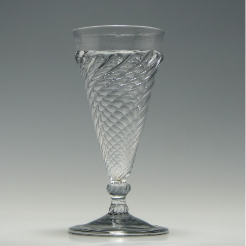 Early Georgian Gadrooned Ale Glass c1730