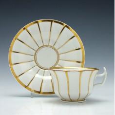 A KPM Porcelain Teacup & Saucer c1845