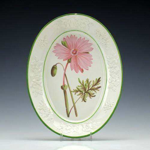 A Swansea Creamware Botanical Dish c1805