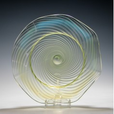 John Walsh Opalescent Vaseline Glass Bowl c1895