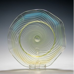 John Walsh Opalescent Vaseline Glass Bowl c1895