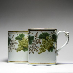 Pair of 18th Century Worcester English Ale Mugs c1795