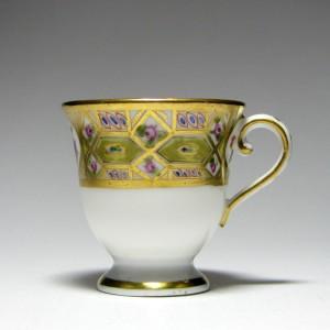 Coalport 'Church Gresley' Porcelain Ice Cup c1820