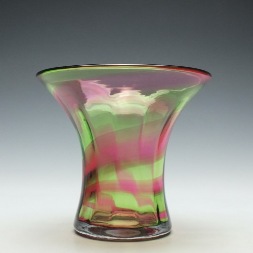 Stevens & Williams Rainbow Glass Vase