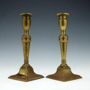 Pair of Georgian Abyssinian Gold Candlesticks c1770