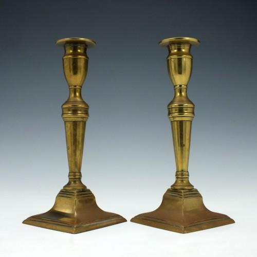 Pair of Georgian Brass Candlesticks c1770