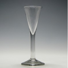 Tall Georgian Plain Stem Ale Glass c1750