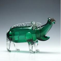 Scandanavian Glass Gin Pig