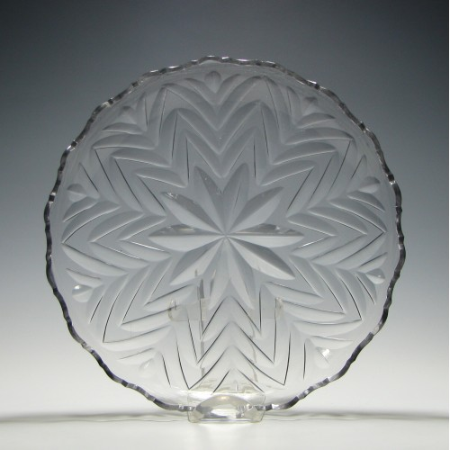 19th Century Cut Glass Serving Dish