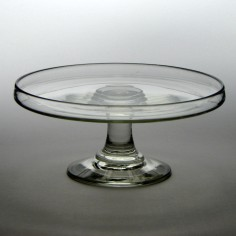 19th Century Glass Tazza c1835