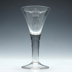 Whitefriars Queen Elizabeth II Coronation Glass Goblet 1953