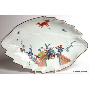 18th Century Meissen Leaf Dish c1735
