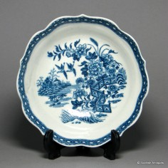 First Period Worcester The Fence' Pattern Chocolate Cup Stand c1775