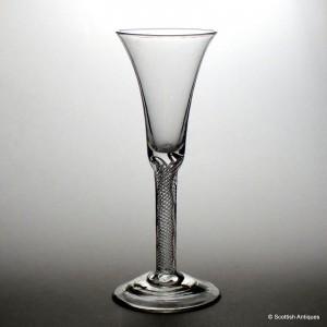 Tall Georgian Air Twist Wine Glass c1750