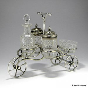 Victorian Hallmarked Carriage Condiment Set c1880