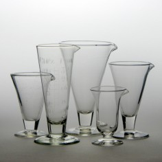 A Group Of Five 19th Century Fluid Measures