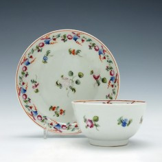 New Hall Porcelain Tea Bowl & Saucer c1800