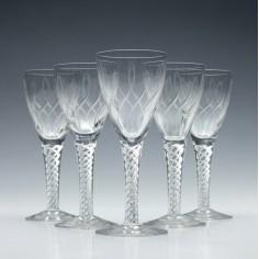 Set of Stuart Crystal 'Rhythm' Glasses c1955