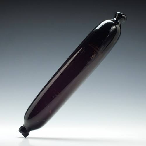 19th Century Amethyst Glass Rolling Pin