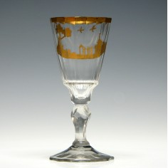 18th Century Gilded Facet Cut Wine Glass - Was £125