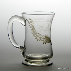 Engraved French Cider Tankard c1820