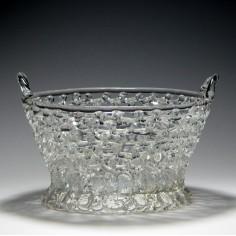 18th Century Openwork Lead Glass Basket c1780