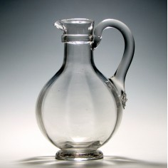 Victorian Optical Moulded Claret Jug c1850