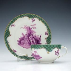 Meissen Porcelain Teacup & Saucer c1770