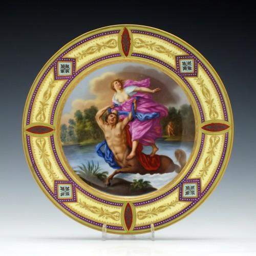 Vienna Porcelain Cabinet Plate Deianira and Nessus c1825