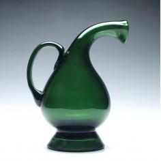 Green Blenko Style Art Glass Jug c1950