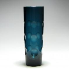 Erich Jachmann WMF Lens Cut Glass Vase c1950