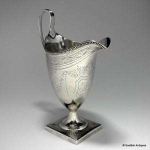 George III Silver Cream Jug By Bateman London 1794