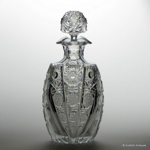 Edwardian Rich Cut Decanter c1910