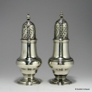 Pair of Georgian Silver Pepper Pots 1764