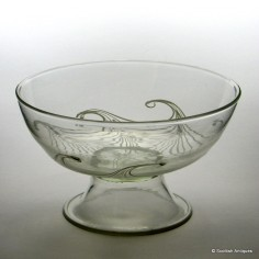 Rare Graystan Footed Glass Bowl c1930