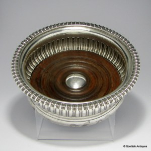 Crested Silver Wine Coaster 1809