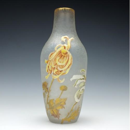 Legras Mont Joye Enamelled Vase c1910