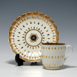 Caughley Porcelain Coffee Can & Saucer c1785