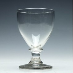 19th Century Ovoid Bowl Glass Rummer c1830